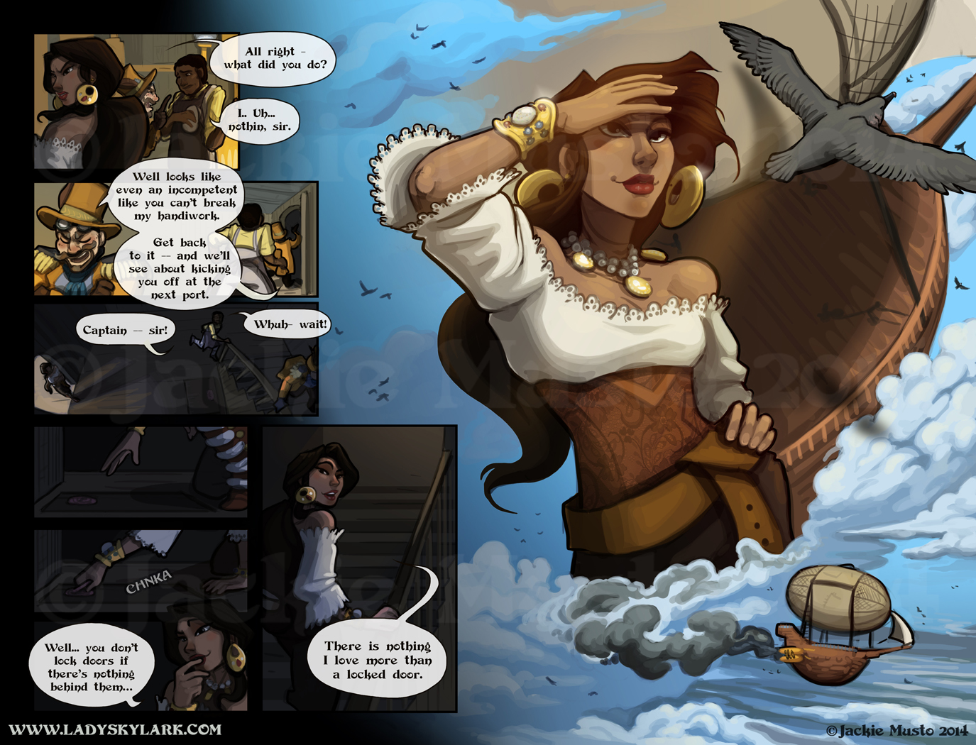Lady Skylark and the Queen's Treasure - Page 102-103